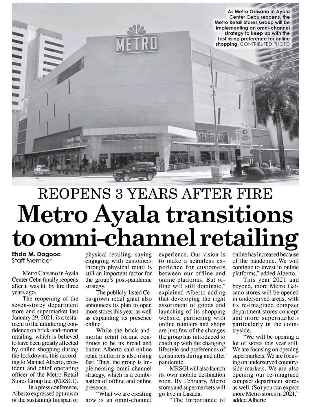 February 1 2021 Metro Ayala transitions to omni channel retailing The Freeman
